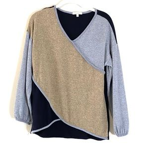 Ava James Patchwork Thin Sweater Small